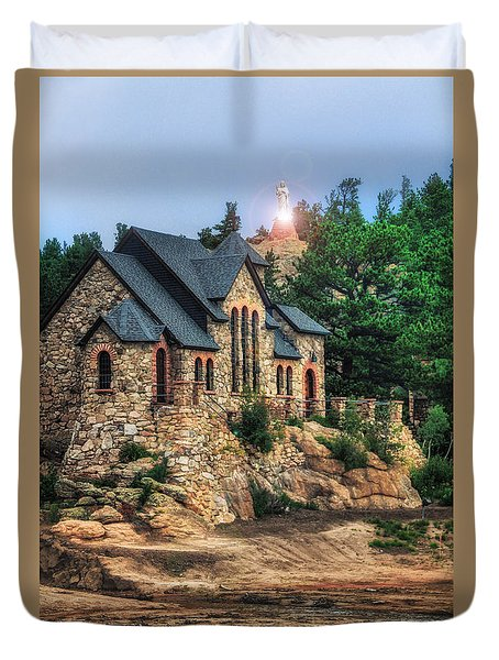 Twilight At Chapel On The Rock Duvet Cover