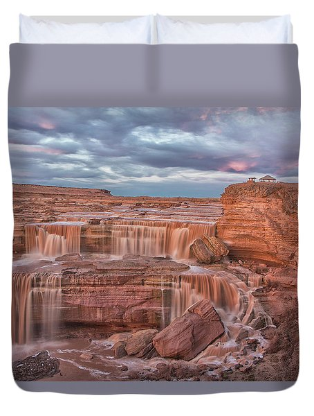 Twilight At Chocolate Falls Duvet Cover