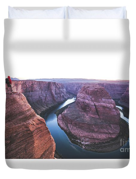 Twilight At Horseshoe Bend Duvet Cover by JR Photography