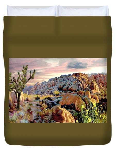 Twilight At Joshua Duvet Cover