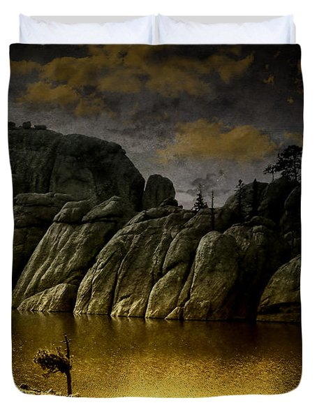 Twilight At The Lake Duvet Cover