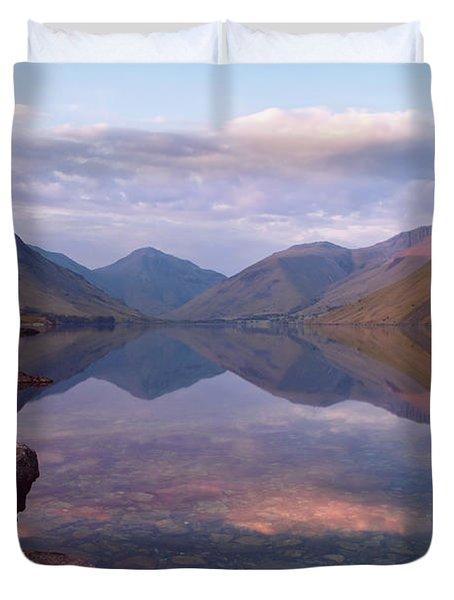 Twilight At Wastwater In Cumbria Duvet Cover