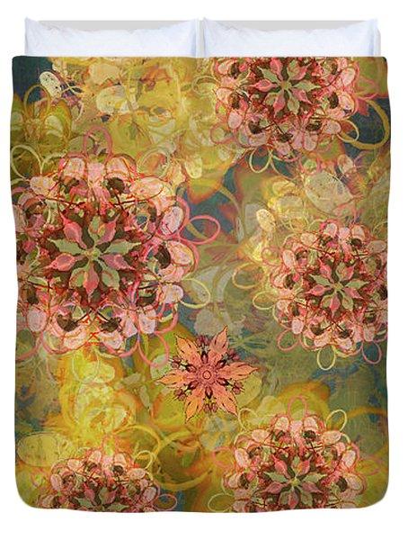 Twilight Blossom Bouquet Duvet Cover