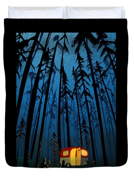 Twilight Camping Duvet Cover