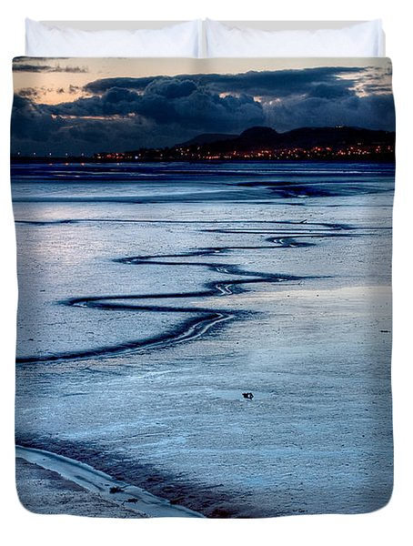 Twilight, Conwy Estuary Duvet Cover