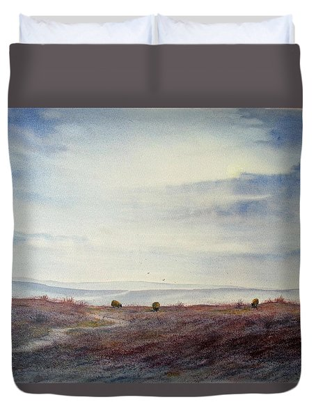 Twilight Settles On The Moors Duvet Cover