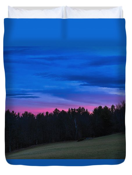 Twilight Field Duvet Cover by Tom Singleton