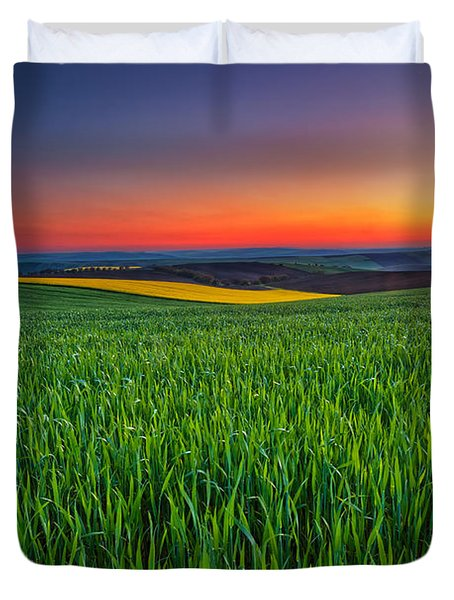 Twilight Fields Duvet Cover