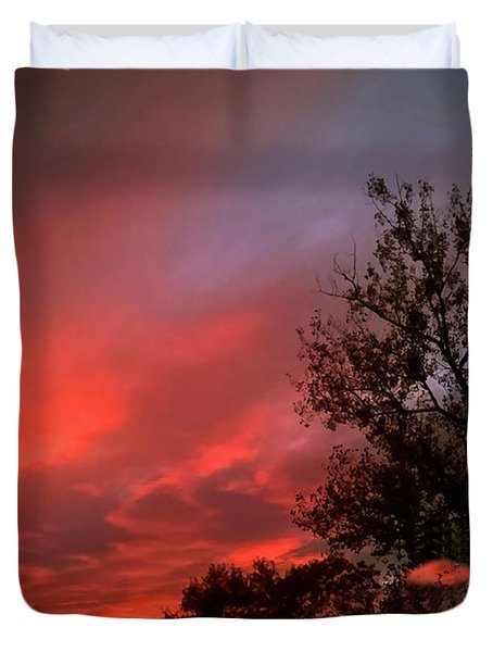 Twilight Fire Duvet Cover
