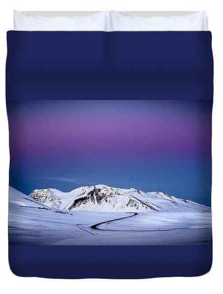 Twilight Glow, Iceland Duvet Cover