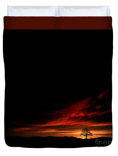 Twilight Glow Duvet Cover