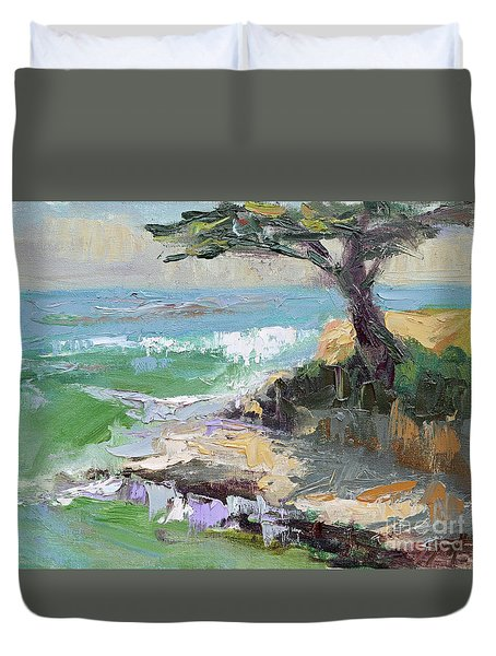 Twilight In Santa Cruz Duvet Cover