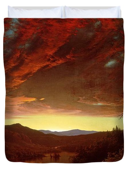 Twilight In The Wilderness Duvet Cover by Frederic Edwin Church