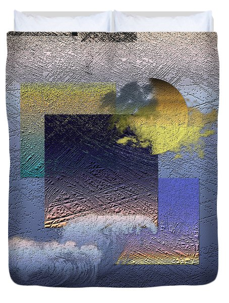 Twilight Interrupted By Ocean Breeze Duvet Cover