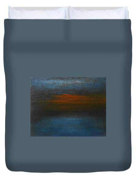 Duvet Cover featuring the painting Twilight by Jane See