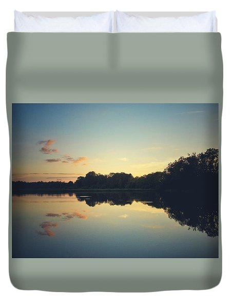 Duvet Cover featuring the photograph Twilight by Karen Stahlros