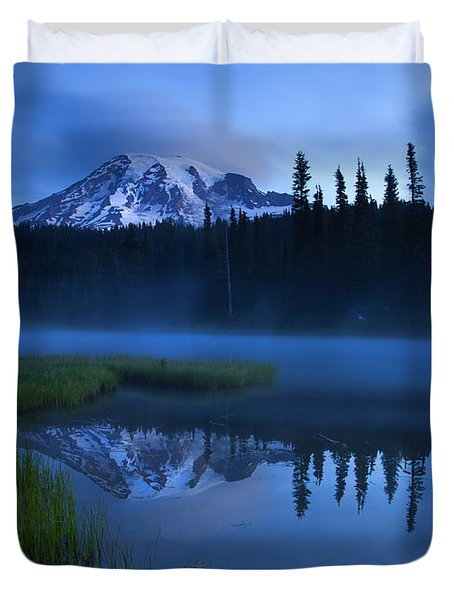Twilight Majesty Duvet Cover by Mike  Dawson