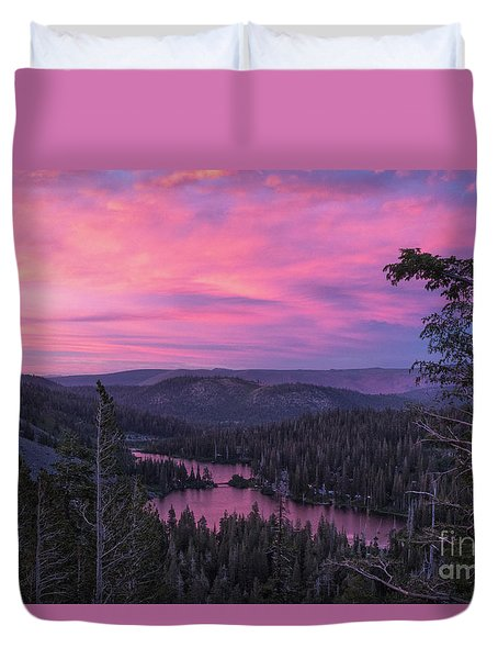 Twilight Mammoth Lakes  Duvet Cover