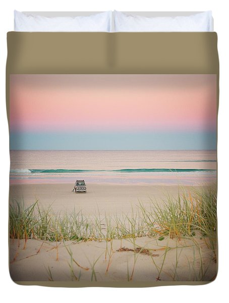 Twilight On The Beach Duvet Cover