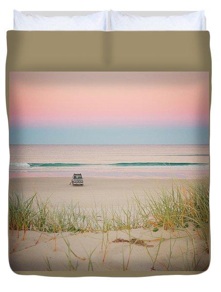 Twilight On The Beach Duvet Cover