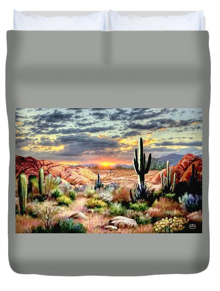 Twilight On The Desert Duvet Cover