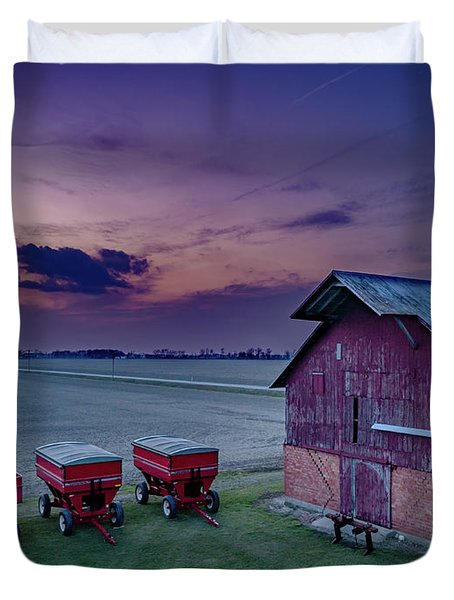 Twilight On The Farm Duvet Cover