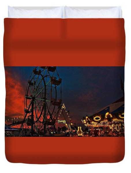 Twilight On The Midway  Duvet Cover by John Harding