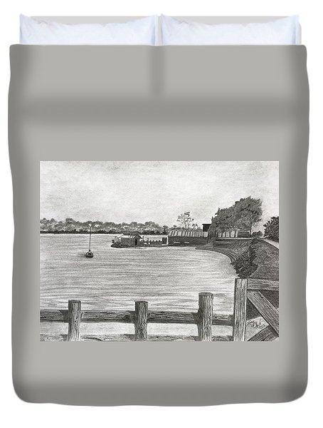Twilight On Tomales Bay Duvet Cover