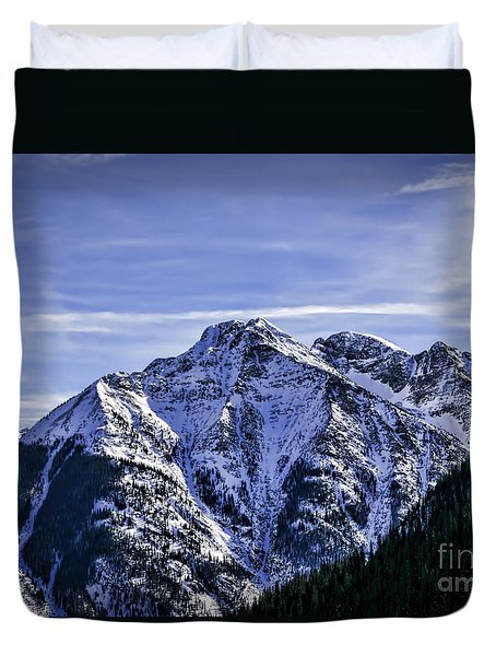Twilight Peak Colorado Duvet Cover