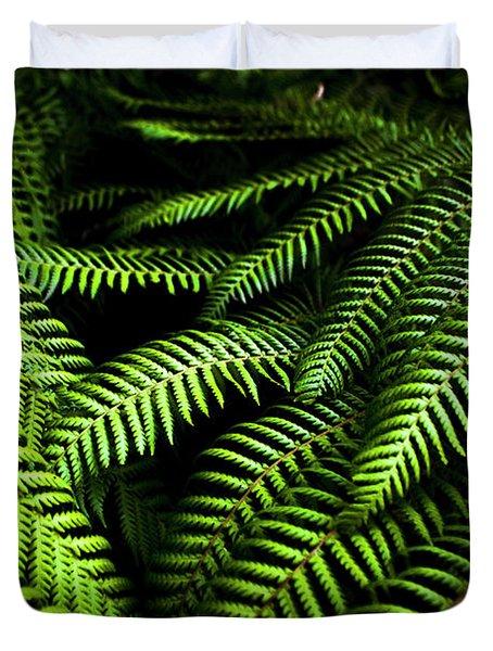 Twilight Rainforest Fern  Duvet Cover