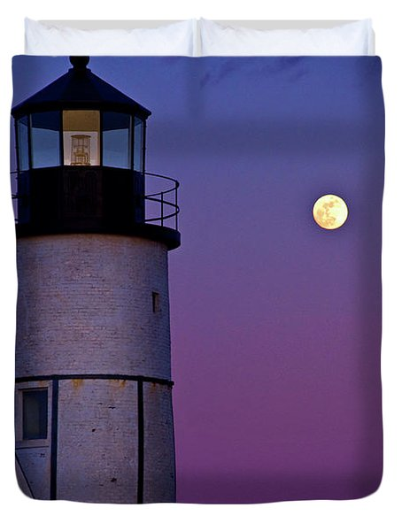 Twilight At Sandy Neck Lighthouse Duvet Cover