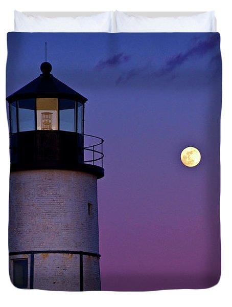 Twilight At Sandy Neck Lighthouse Duvet Cover