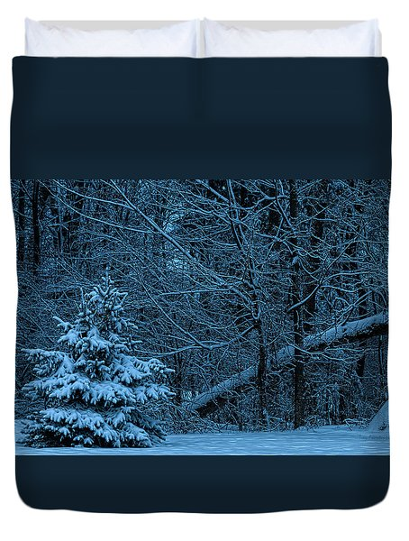 Twilight Snow Duvet Cover by Trey Foerster