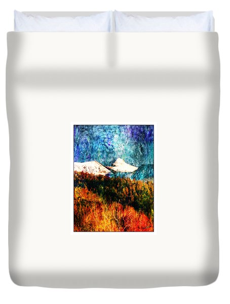 Twilight Storm Sheepshead Peak Duvet Cover