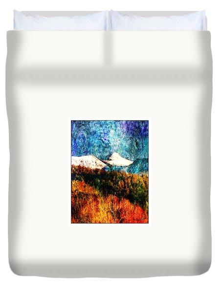 Twilight Storm Sheepshead Peak Duvet Cover by Anastasia Savage Ealy