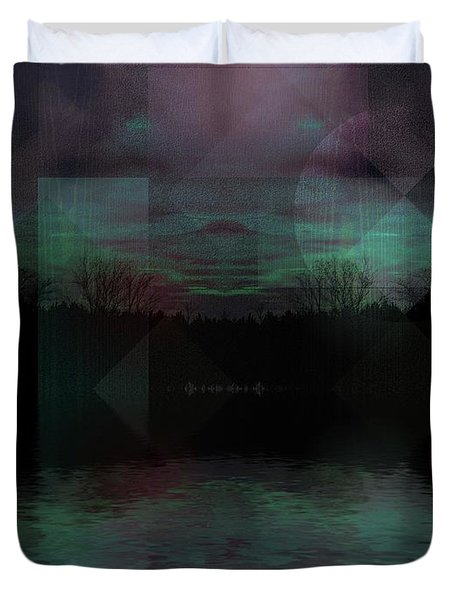 Duvet Cover featuring the digital art Twilight Zone by Mimulux patricia no No