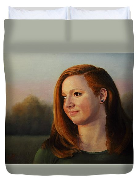 Twilight's Approach Duvet Cover by Glenn Beasley