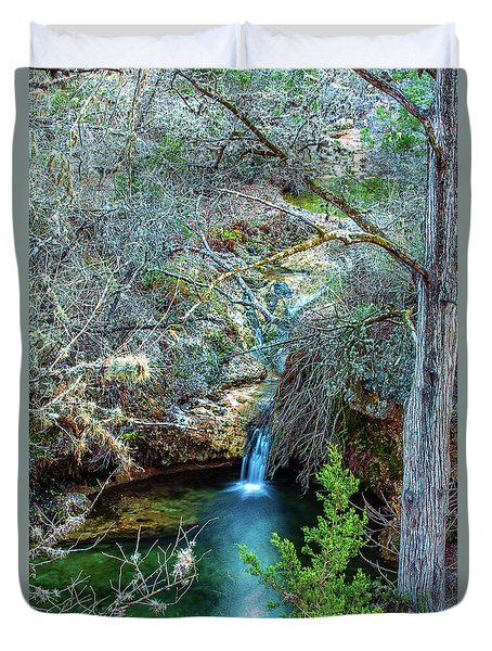 Twin Falls At Peddernales Falls State Park Duvet Cover