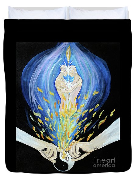 Twin Flame - Alive Duvet Cover
