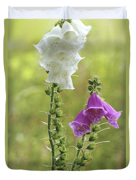 Twin Foxgloves Duvet Cover