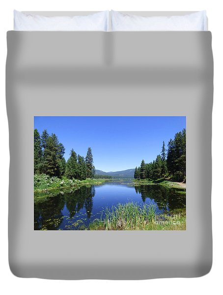 Twin Lakes Reflection Duvet Cover