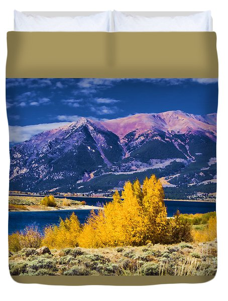 Twin Lakes Duvet Cover by Steven Parker