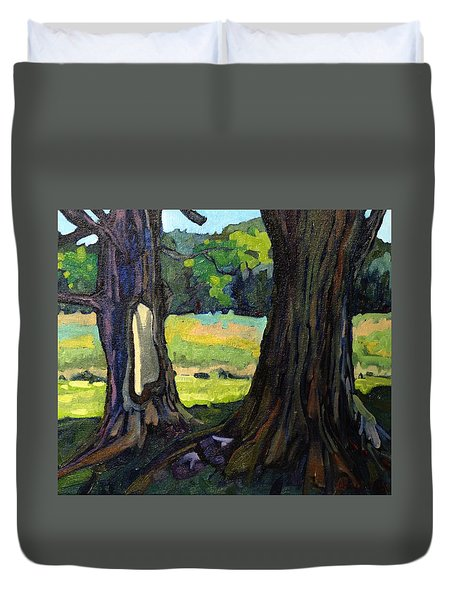 Twin Maples Duvet Cover by Phil Chadwick