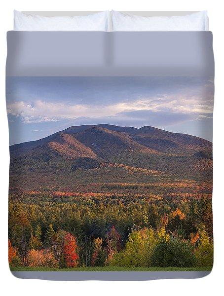Twin Mountain Autumn Sunset Duvet Cover