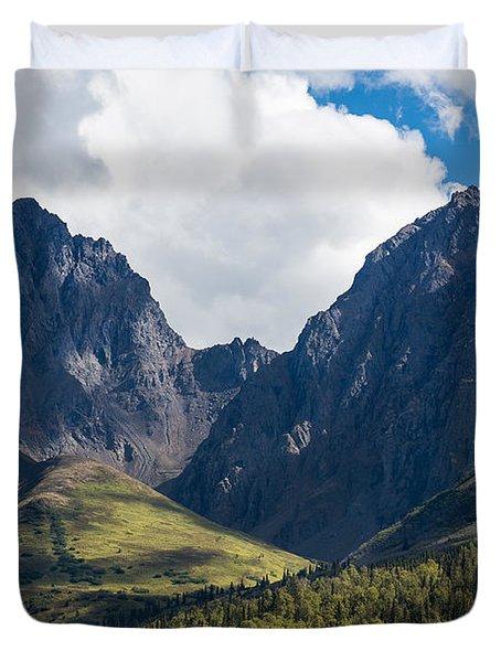 Twin Peaks In Mid-summer Duvet Cover