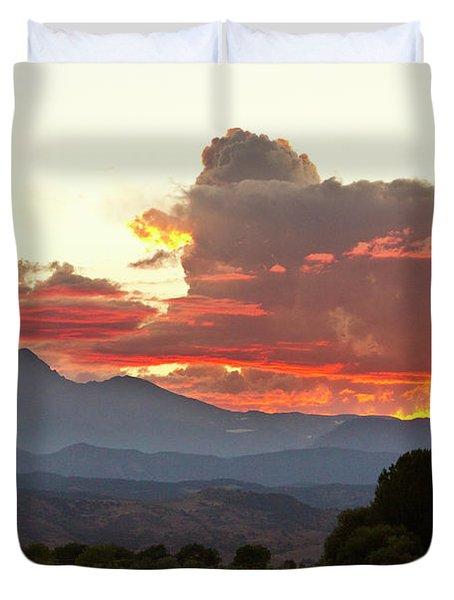 Twin Peaks Longs Meeker August Sunset 3 Duvet Cover