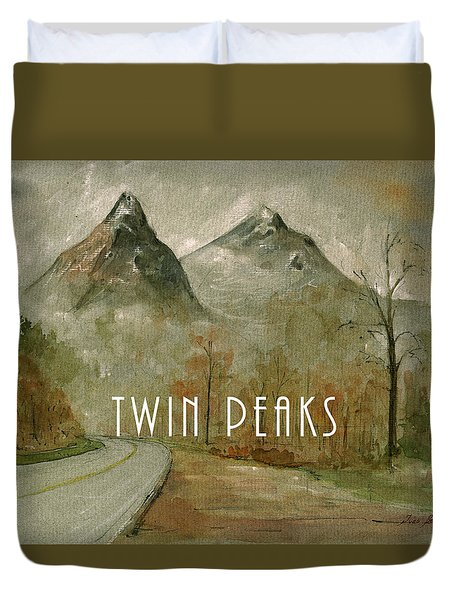 Twin Peaks Poster Painting Duvet Cover