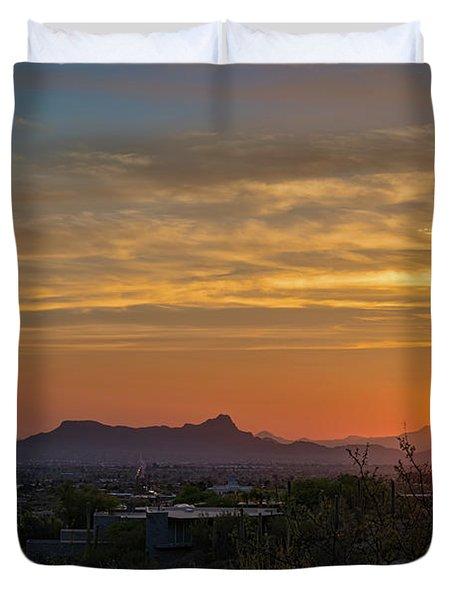 Twin Peaks Sunset Duvet Cover