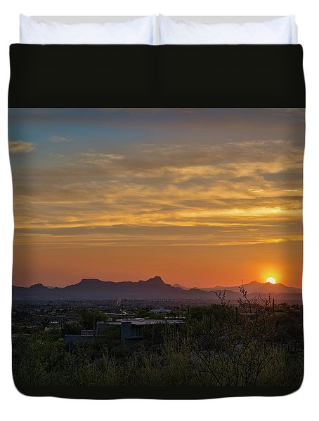 Twin Peaks Sunset Duvet Cover