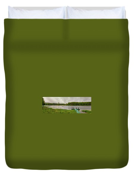 Duvet Cover featuring the photograph Twin Ponds Landscape by David Patterson